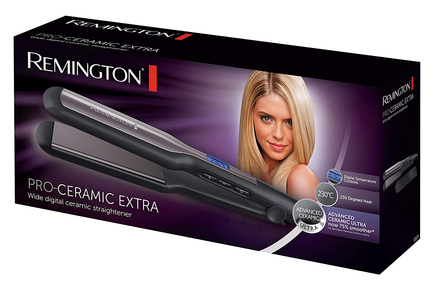 Remington S5525 Pro Ceramic Extra Wide Hair Straightener