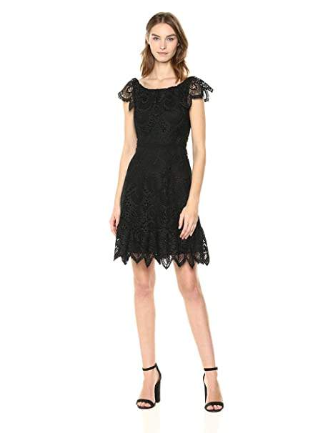 Amazoncom Shoshanna Womens Agustina Lace Fit And Flare