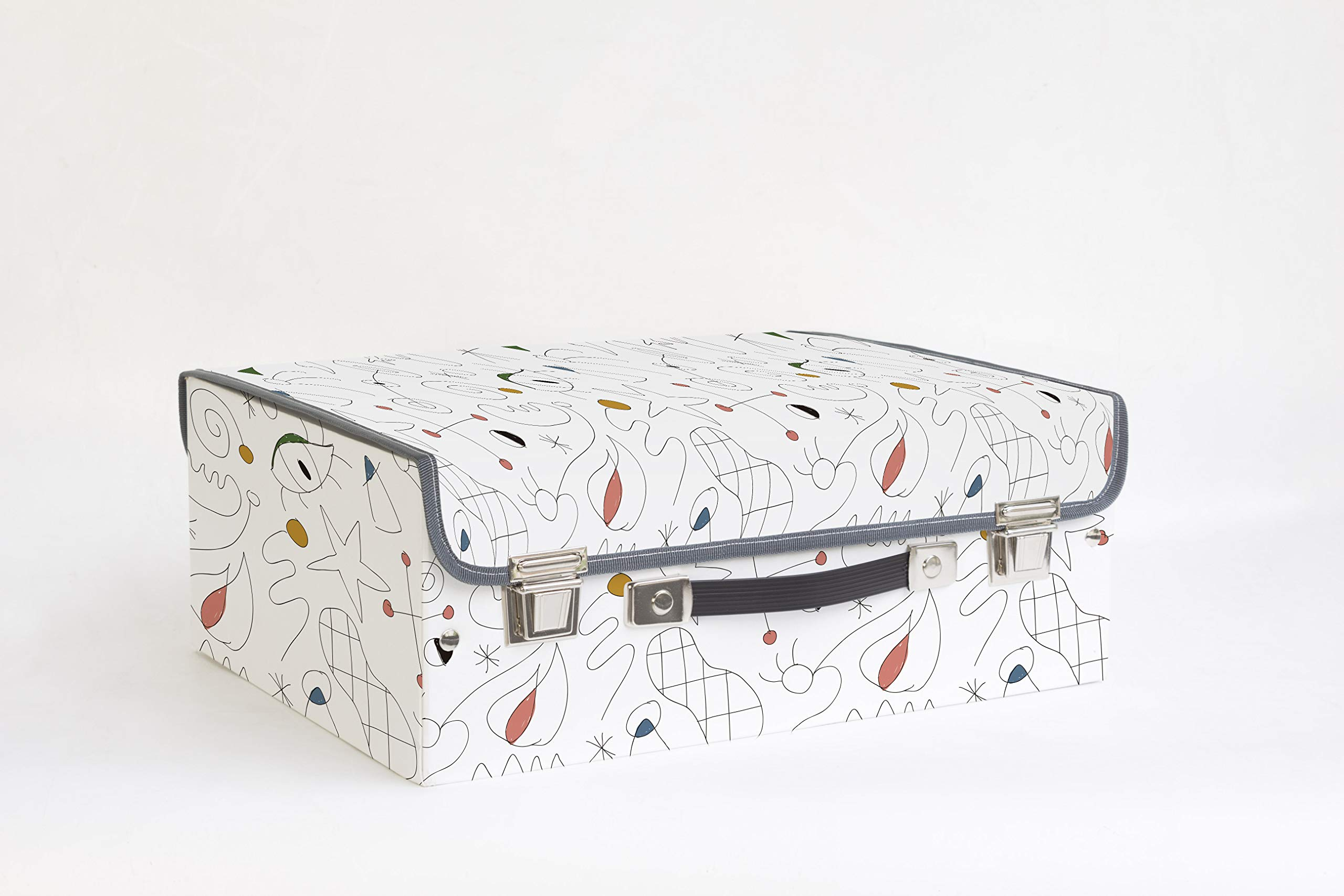 Dear Bestiario Subconous Suitcase, Recycled Cardboard, Printed, Single