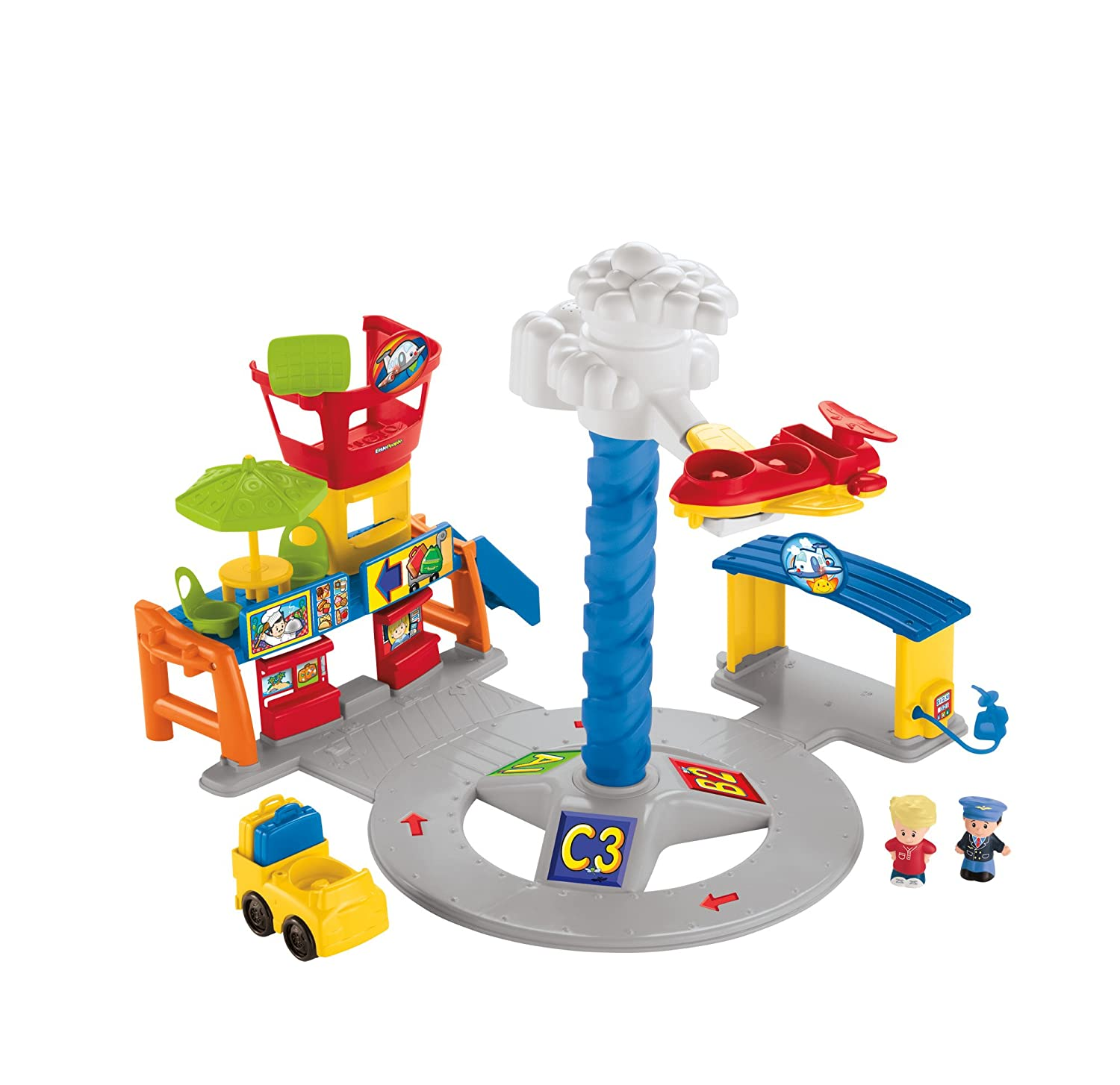 ba912ea4efc Fisher-Price Little People Spinning' Sounds Airport Baby Toy