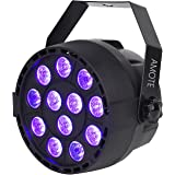 AMOTE DJ Black Lights with 12 LED Controlled by DMX512 IR Remote and Sound Activated for Party Stage Disco Show Used as Wall Washer Lighting