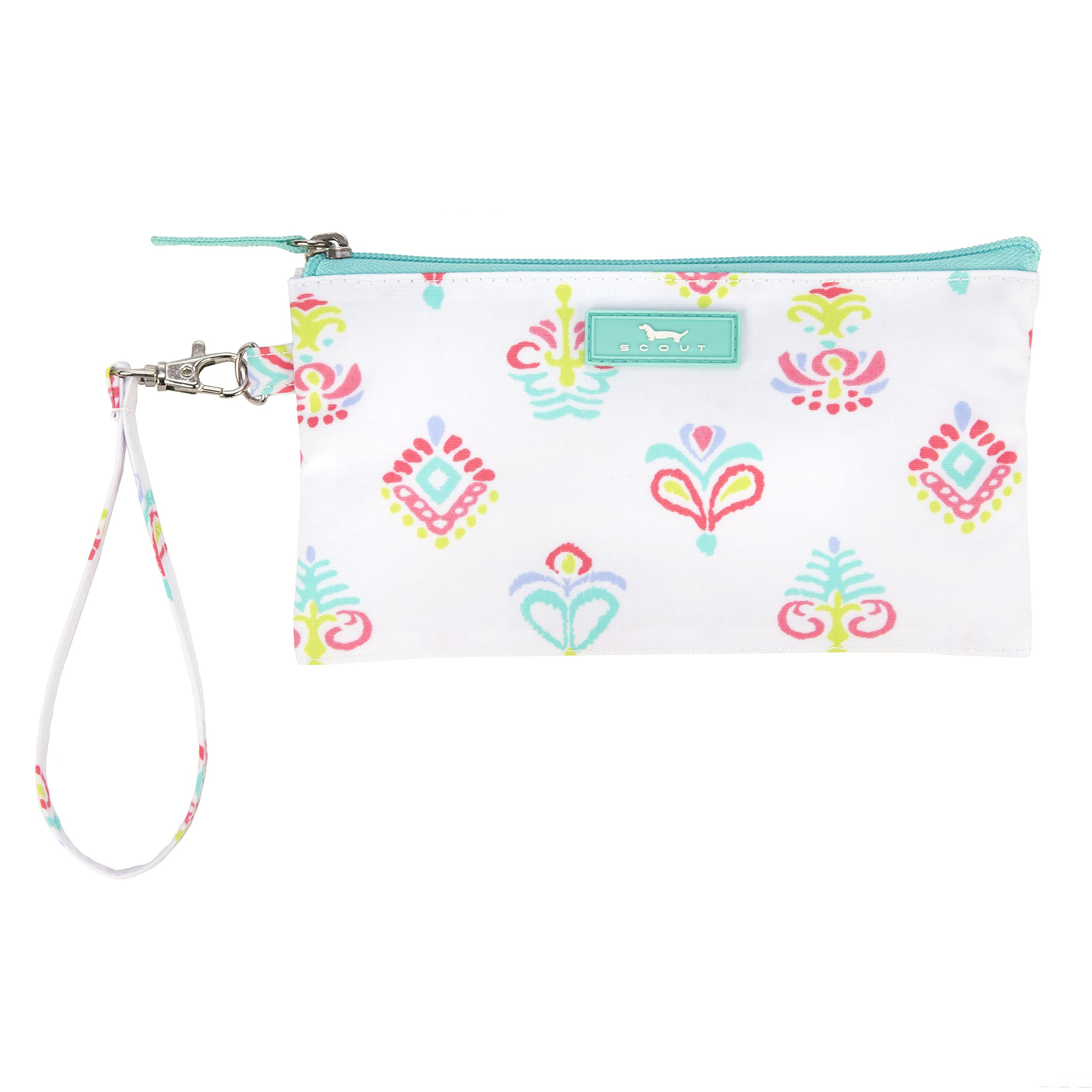 SCOUT Kate Wristlet, Essential Lightweight Clutch, Fits iPhone 6-8, Removable Strap, Water Resistant, Zips Closed, Carnival Y'all