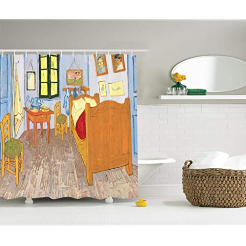 Artist Artwork Shower Curtain Drawings By Vincent Van Gogh Bedroom In The Arles Reproduction For Bathroom