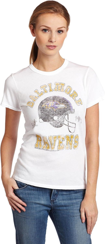 NFL Baltimore Ravens Heather Vintage Short Sleeve Crew Women's
