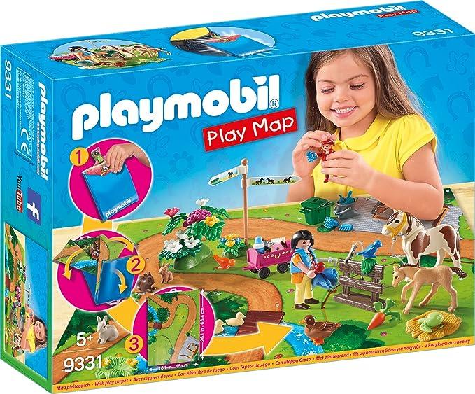 PLAYMOBIL- Play Map Paseo con Ponis Juguete, Multicolor (geobra Brandstätter 9331): Amazon.es: Juguetes y juegos