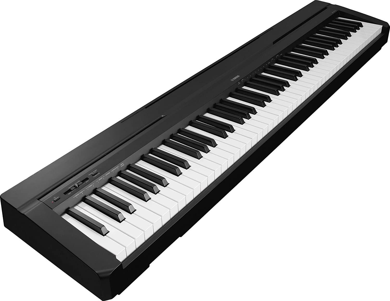 Yamaha P-35B - Piano digital (plástico, 88 teclas, 2 altavoces integrados, conector tipo USB), color negro