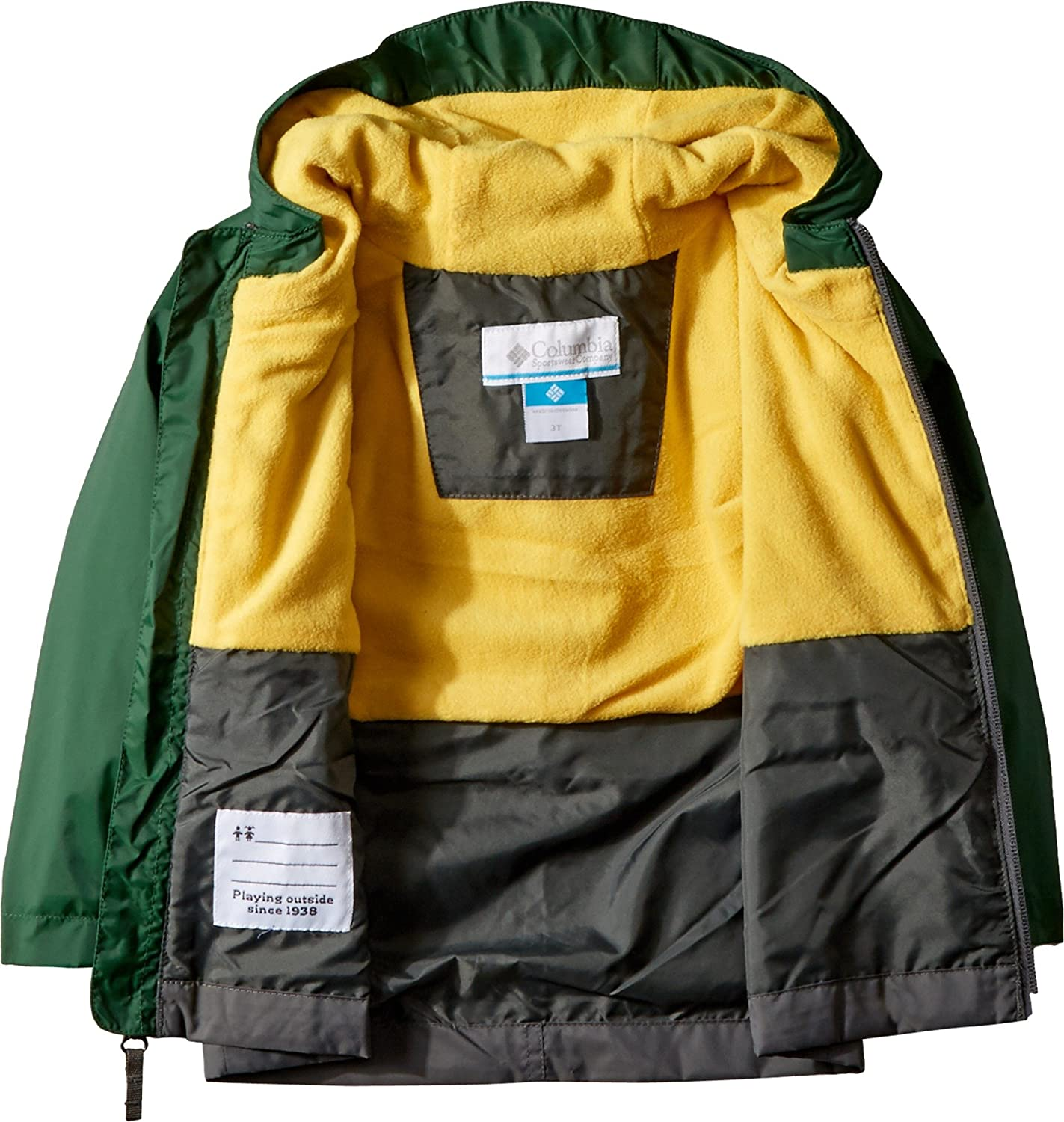 85a1c92cabf8 Columbia Kids Baby Boys Rain-Zilla¿ Jacket (Toddler) Grill Forest ...