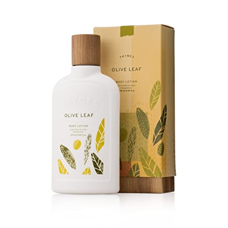 Thymes – Olive Leaf Body Lotion – With Moisturizing Shea Butter, Vitamin E and Olive Oil – 9.25 oz
