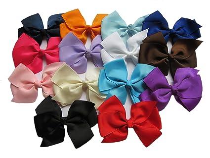 Amazon com: YYCRAFT 20PCS Large Solid Grosgrain Ribbon Bows