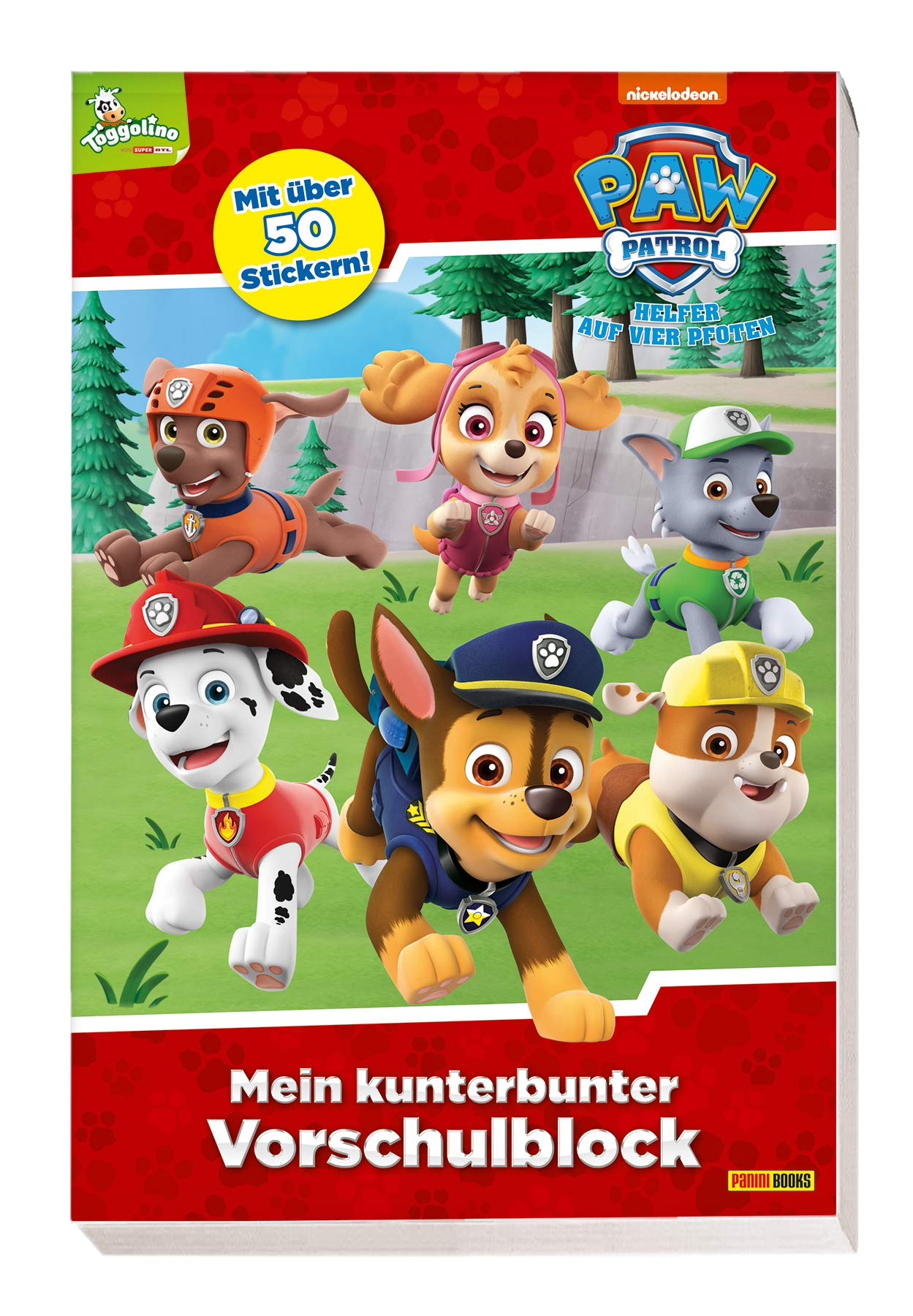 PAW Patrol  Mein Kunterbunter Vorschulblock  Mit über 50 Stickern