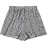 Floerns Women's Plus Size Shorts Summer Casual Floral Elastic Waist Shorts