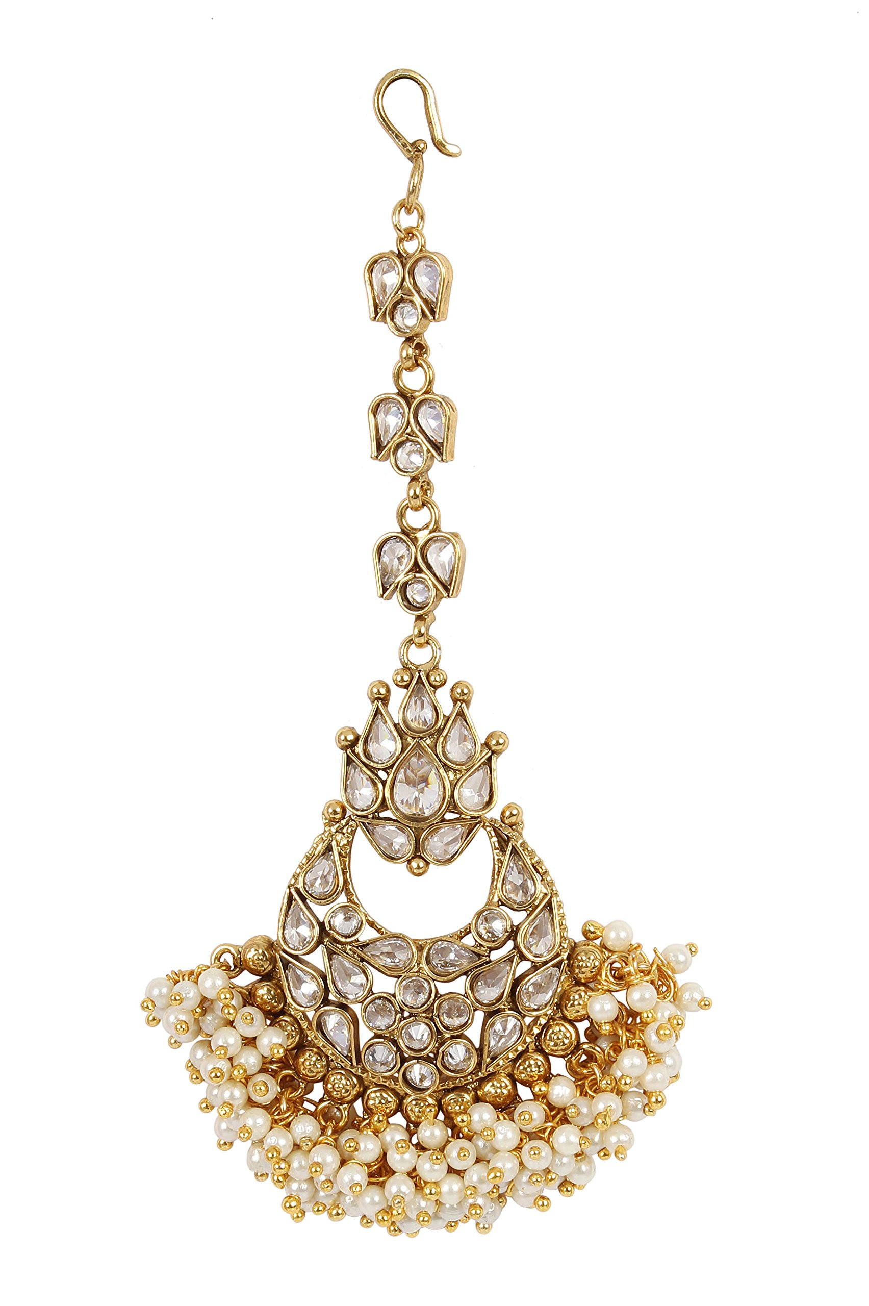MUCH-MORE Indian Unique Style Party wear Maang Tikka Forehead Traditional Jewelry (2330)