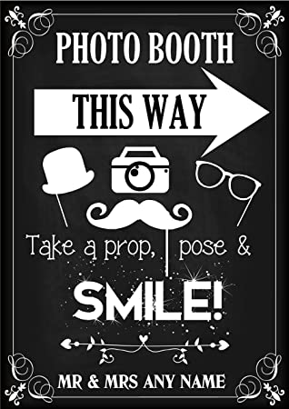 Personalizado Photo Booth selfie cartel - pancarta ...