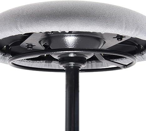 hjh OFFICE 608915 Arbeitshocker Balance SIT Stoff Grau beweglicher Hocker f/ür gesundes Sitzen h/öhenverstellbar