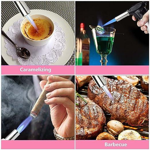 SUMGOTT Antorcha de Cocina Soplete de Cocina con Bloqueo de Seguridad Temperatura y Llama Ajustables para Crema Brulee, cocinar Alimentos: Amazon.es: Hogar