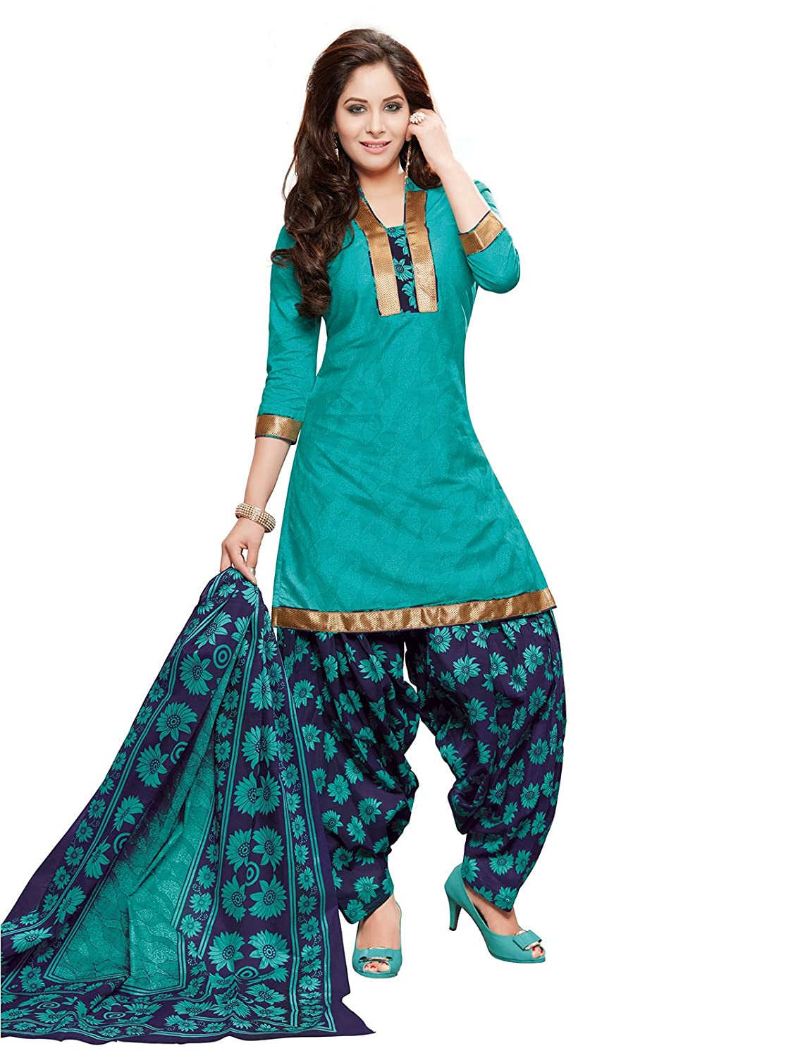 PShopee Women's Cotton Unstitched Salwar Suit (PSBPS4 ...