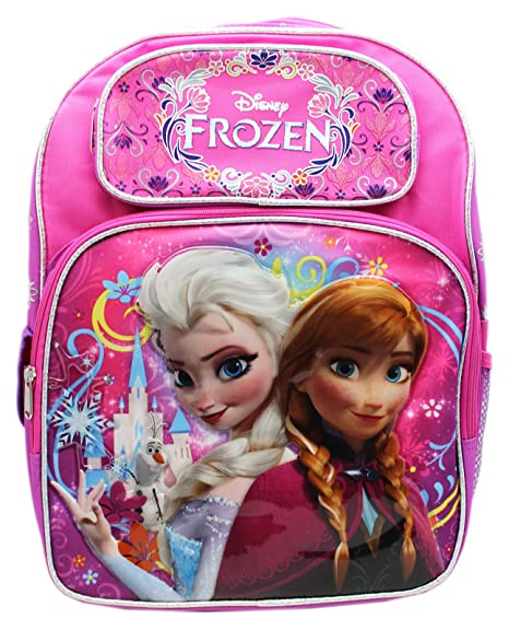 62d430371c1 Image Unavailable. Image not available for. Color  Full Size Pink and  Purple Disney Frozen Anna and Elsa Kids Backpack