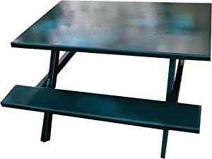 Ofab Custom Theme Tables Kids Traditional Picnic Table, Teal Tatter