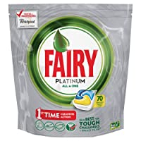 Fairy Platinum Lemon DishWashing Tablets 70 Capsules