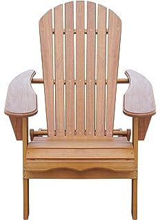 amazon com outdoor interiors cd3111 eucalyptus adirondack chair
