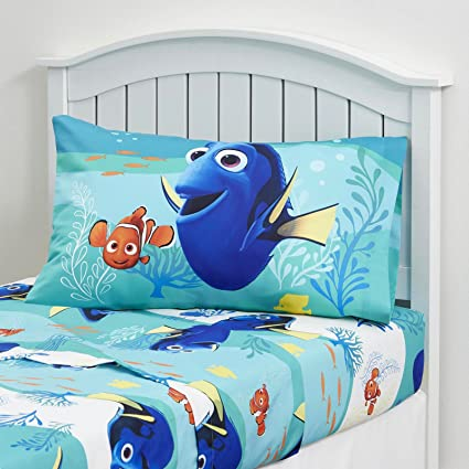Kids Bedding Set 3 Piece Finding Dory Nemo Bed Sheet Set Twin Size Children  Bedroom
