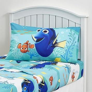 Kids Bedding Set 3 Piece Finding Dory Nemo Bed Sheet Set Twin Size Children  Bedroom. Amazon com  Kids Bedding Set 3 Piece Finding Dory Nemo Bed Sheet