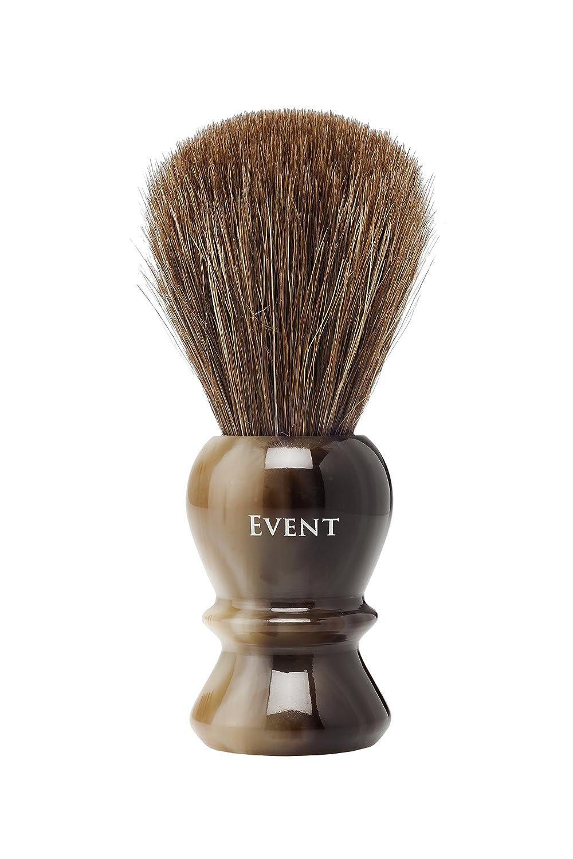 Event Brocha de Afeitar Caballo Extra Marrón con Soporte, Diámetro 24 mm - 1 Pack Global Cecamo Cía. SL 2206