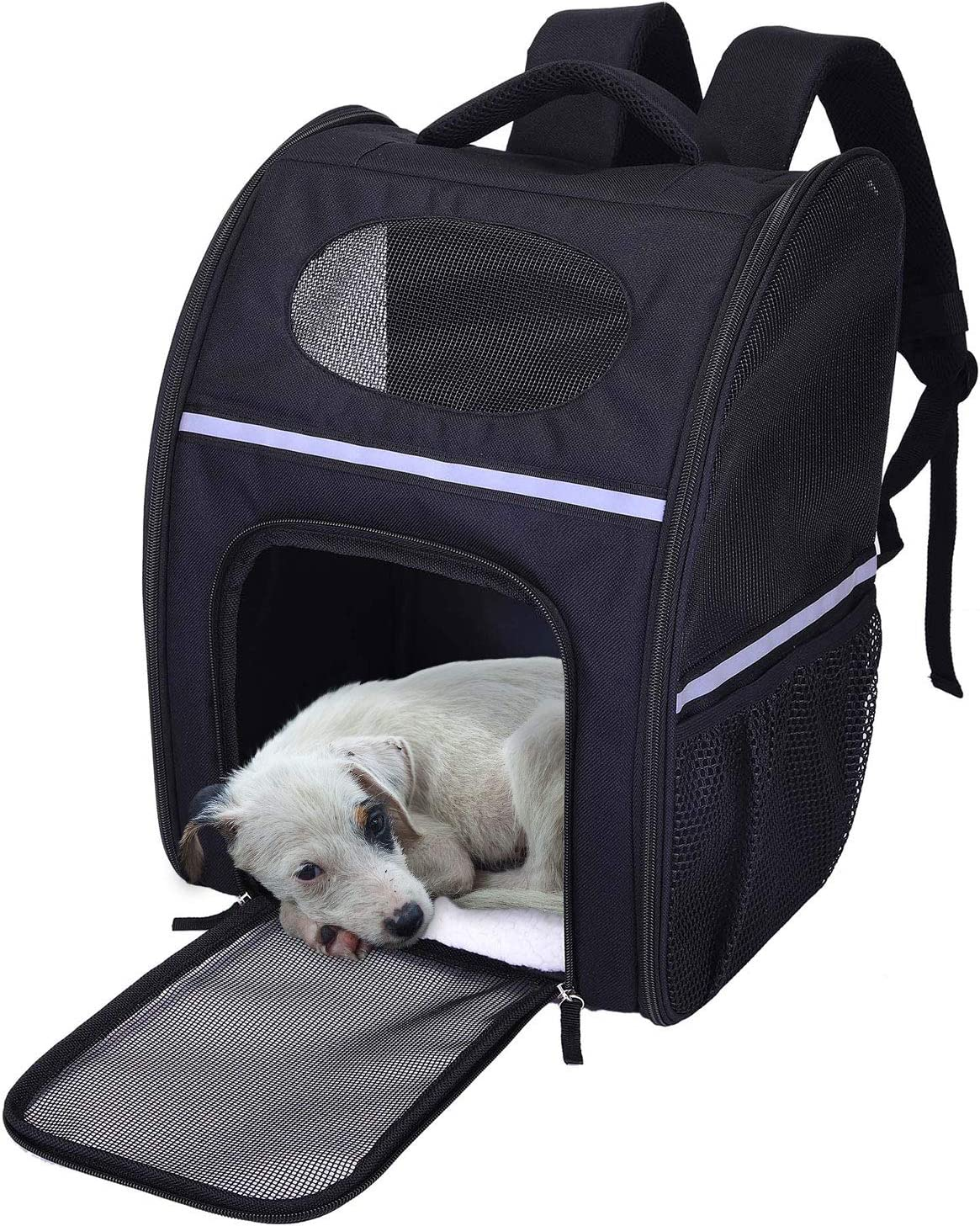 Lampop Mochila para Mascotas Portador de Viaje Bolsa de Transporte para Perros Gatos Malla Transpirable Transportín Jaula Capazos Transportadoras Plegable Viaje Coche Portátil