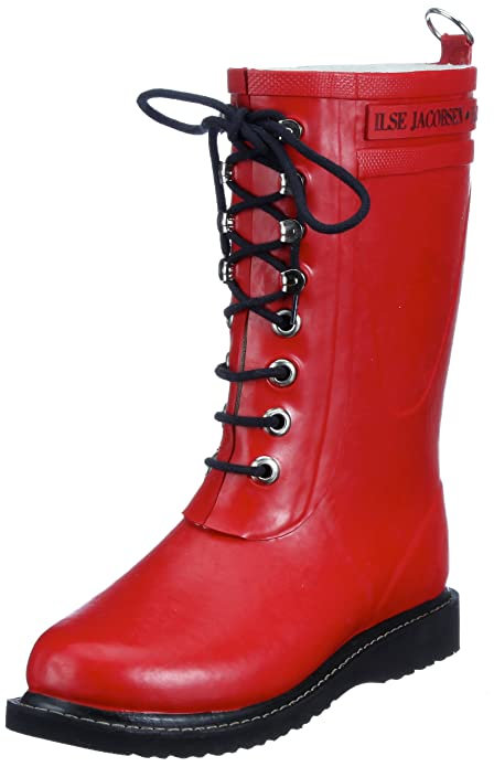 ILSE JACOBSEN Women's Rub 15 Rain Boot,Red,35 EU/5 M US