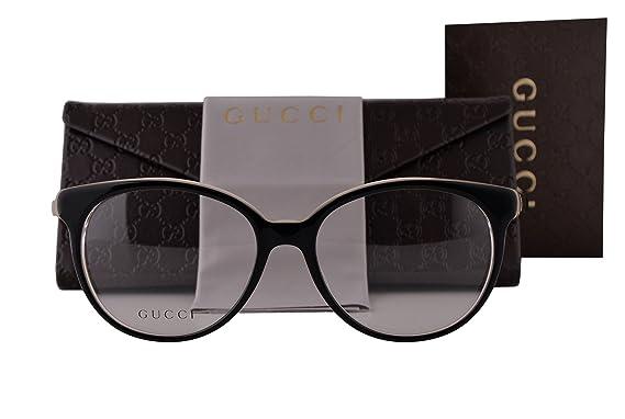 5a7ed14a5c Gucci Gafas de sol para mujer L Negro en relieve: Amazon.fr ...
