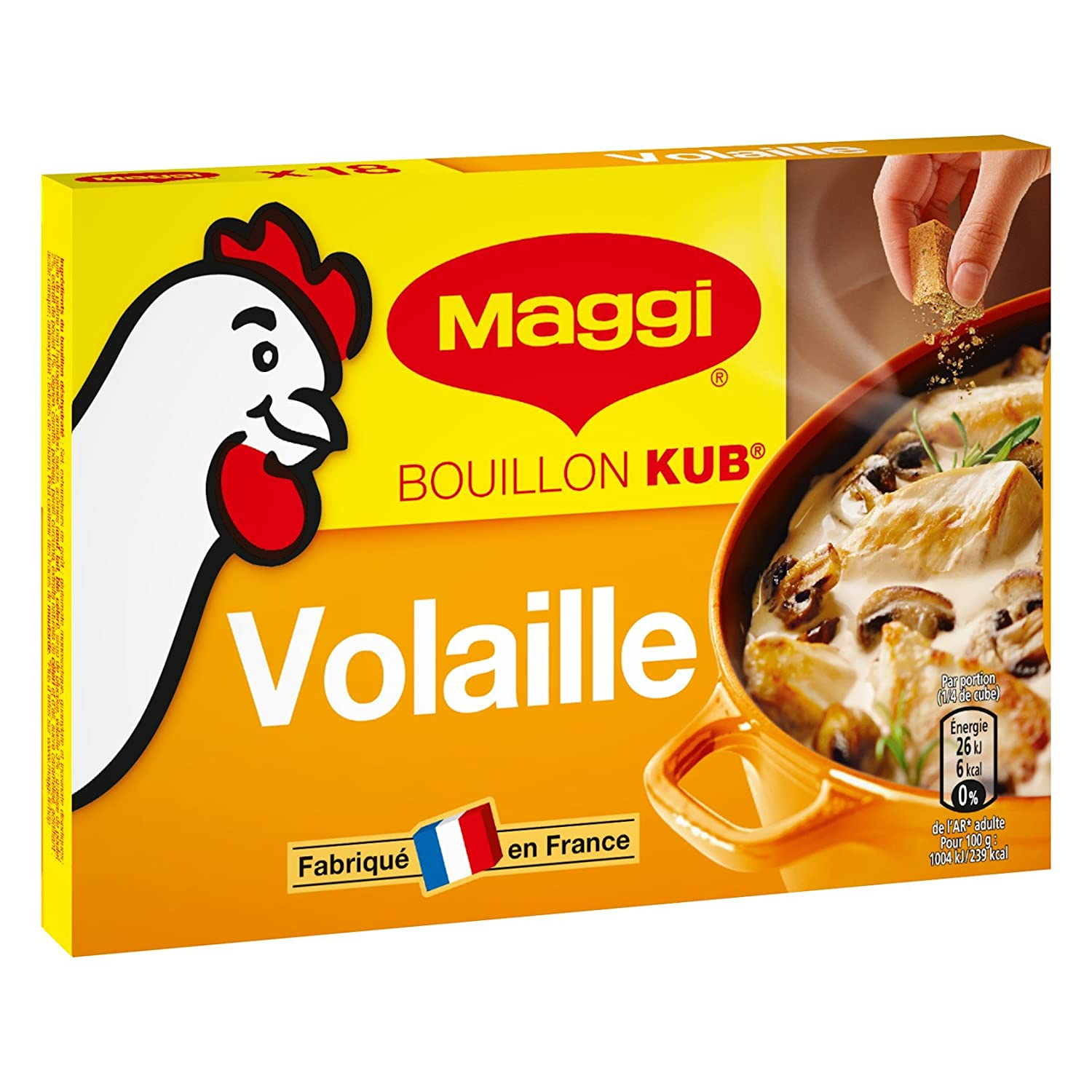 newest new arrive free shipping Maggi Bouillon KUB Volaille (18 tablettes) 180g - Lot de 5