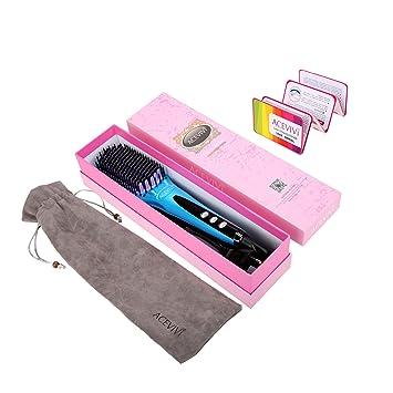 ACEVIVI Cepillo alisador eléctrico para el cabello (iónico ...