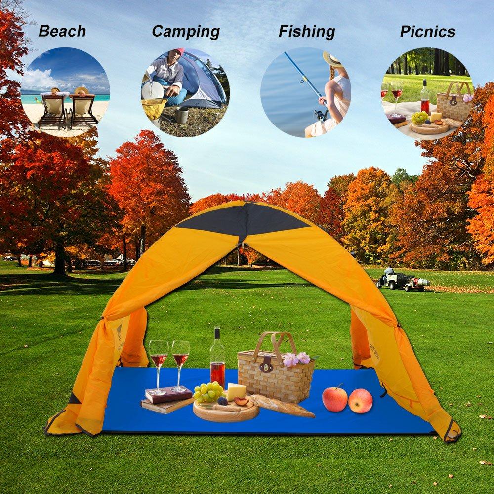600g - 4 /à 5 Personnes pour Camping Randonn/ée Orange 300 x 220 cm GEERTOP Tapis de tente// B/âche// Tarp// Tapis de Sol Tissu Oxford Imperm/éable Portable