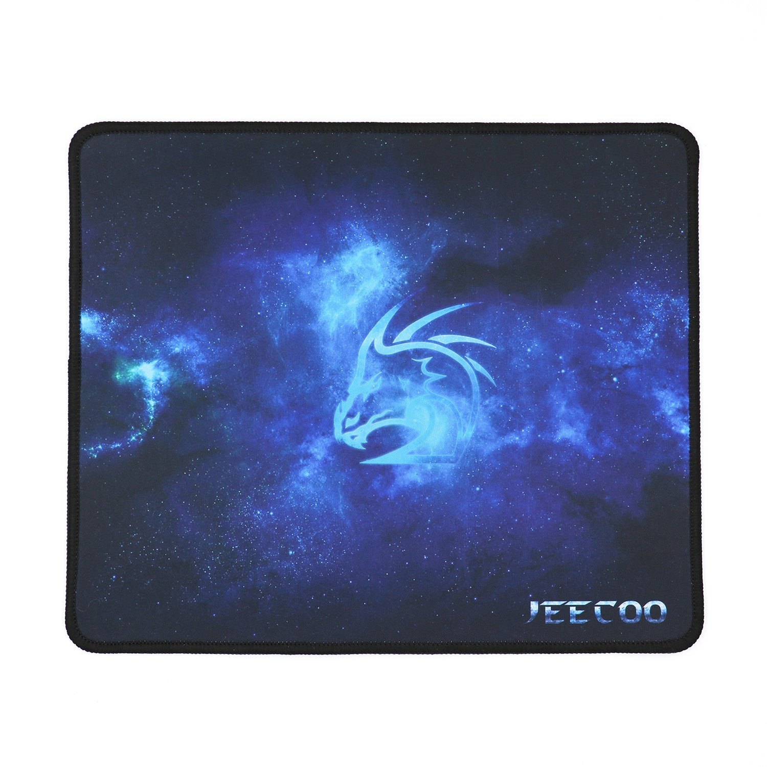 Jeecoo Gaming Mouse Pad Non-Slip Rubber Mouse Mat Silk Texture Mousepad with Stitched Edges 12.5' x 10.5' P001S