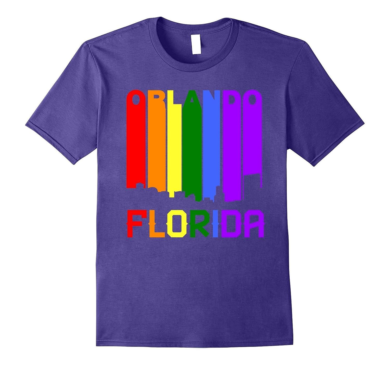 Orlando Florida LGBTQ Gay Pride Rainbow June 12 2017 T-Shirt-CD