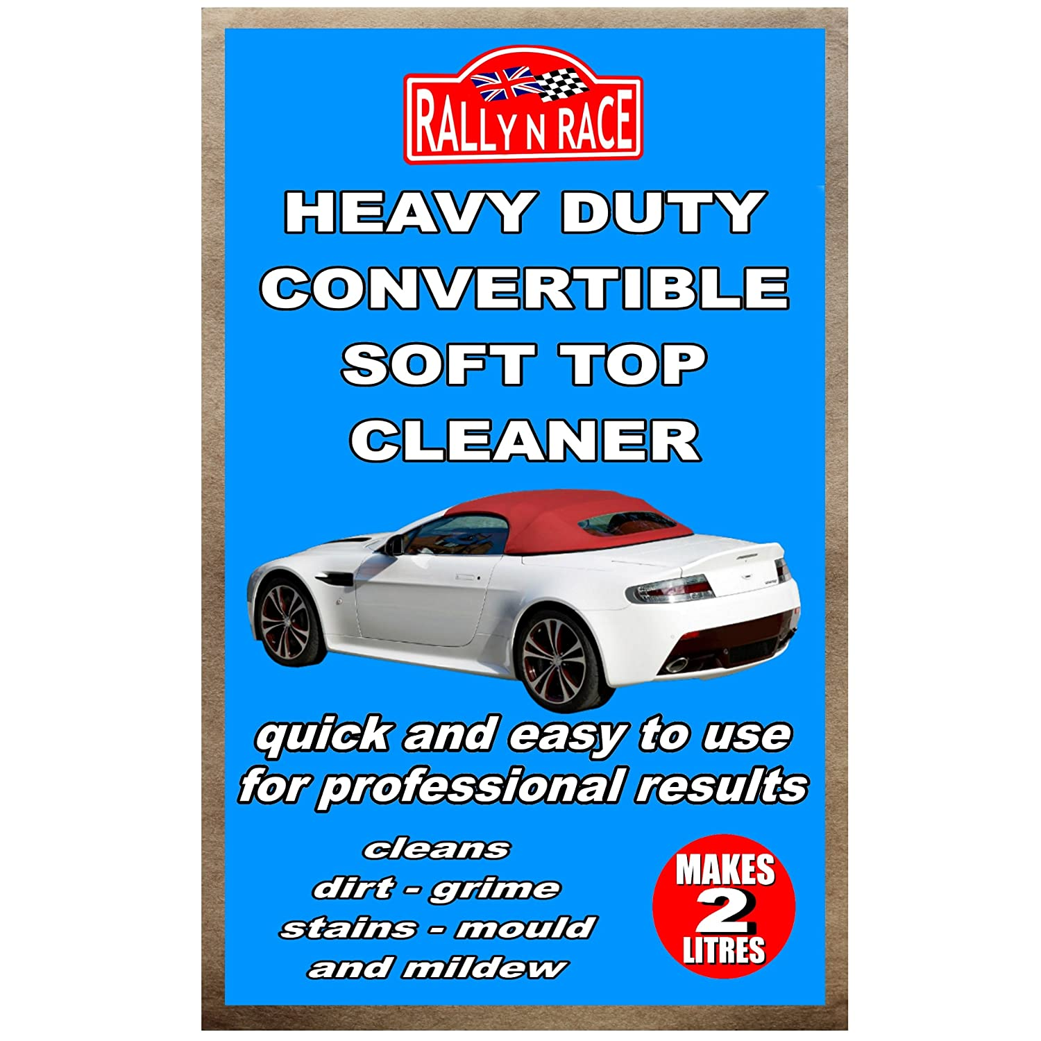 Rally N Race Heavy Duty Convertible Soft Top Cleaner SafeWay Wood Care