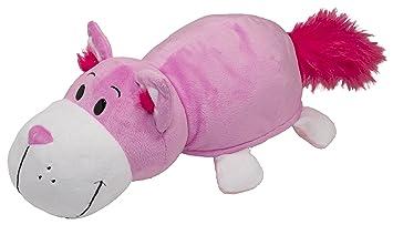 Vivid Imaginations Flip a Zoo Peluche de Gato/ratón 2 en 1, Color Rosa