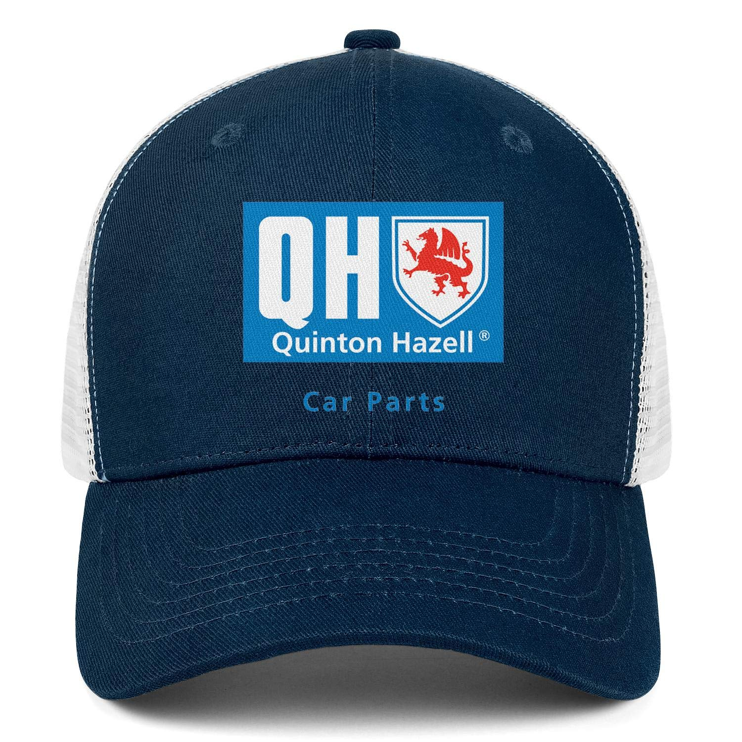 COOLGOOD Quinton Hazell Logo Mens Women Mesh Back Baseball Hat Fitted Dad Hats