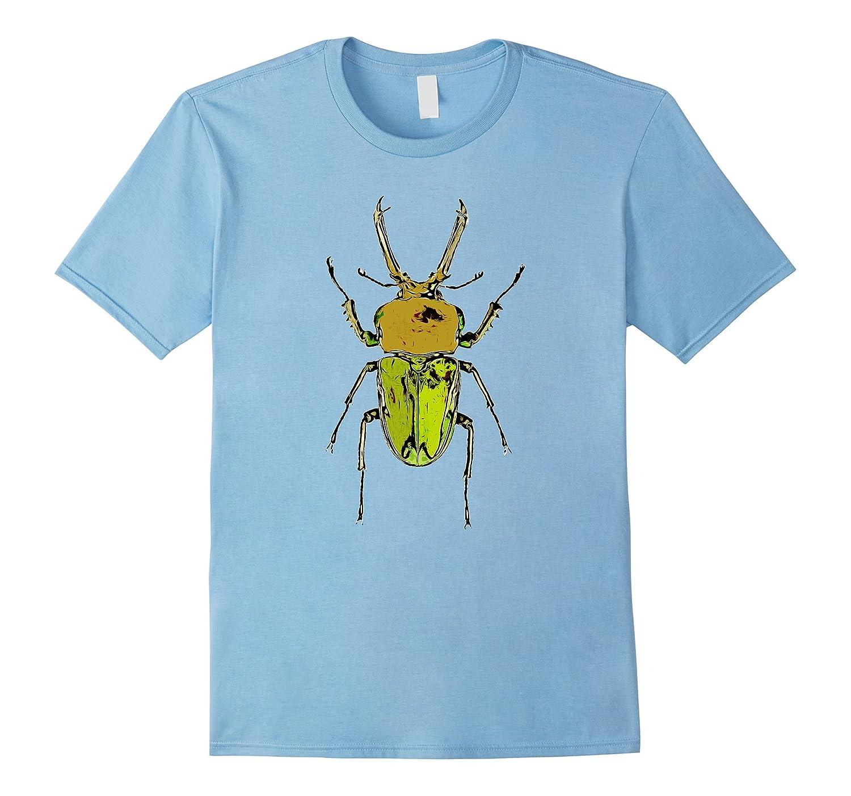 Cool Green Beetle T-Shirt-AZP