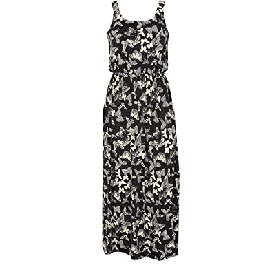 Image Unavailable. Image not available for. Colour  Qed London Womens  Womens Butterfly Maxi Dress ... ae48a25eb2
