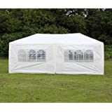 Palm Springs 10 X 20 White Party Tent Gazebo Canopy with Sidewalls
