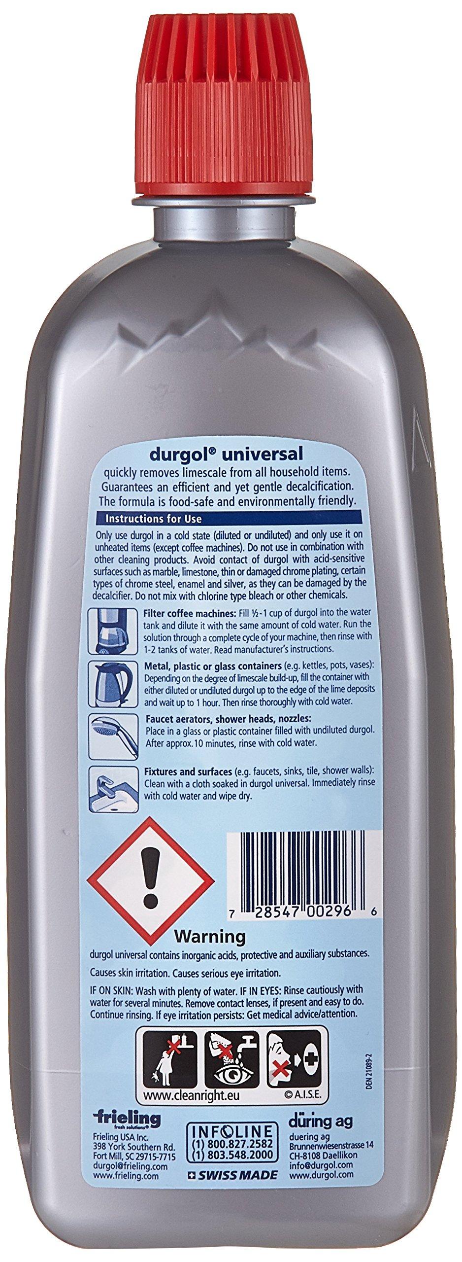 Durgol 0296 Universal Express Multipurpose Descaler/Decalcifier, 16.9 Fluid Ounce Bottle Blue by Durgol (Image #2)
