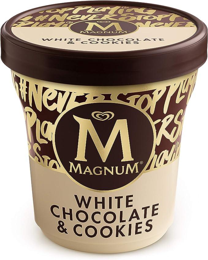 Magnum Helado Tarrina White Chocolate & Cookies, 440ml (Congelado)