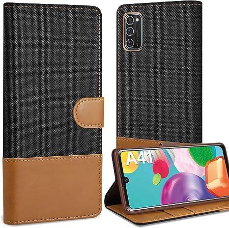 Coque Samsung Galaxy Housse PU Cuir Premium Flip Fermeture magnétique Portefeuille Protection Complète Etui Noir