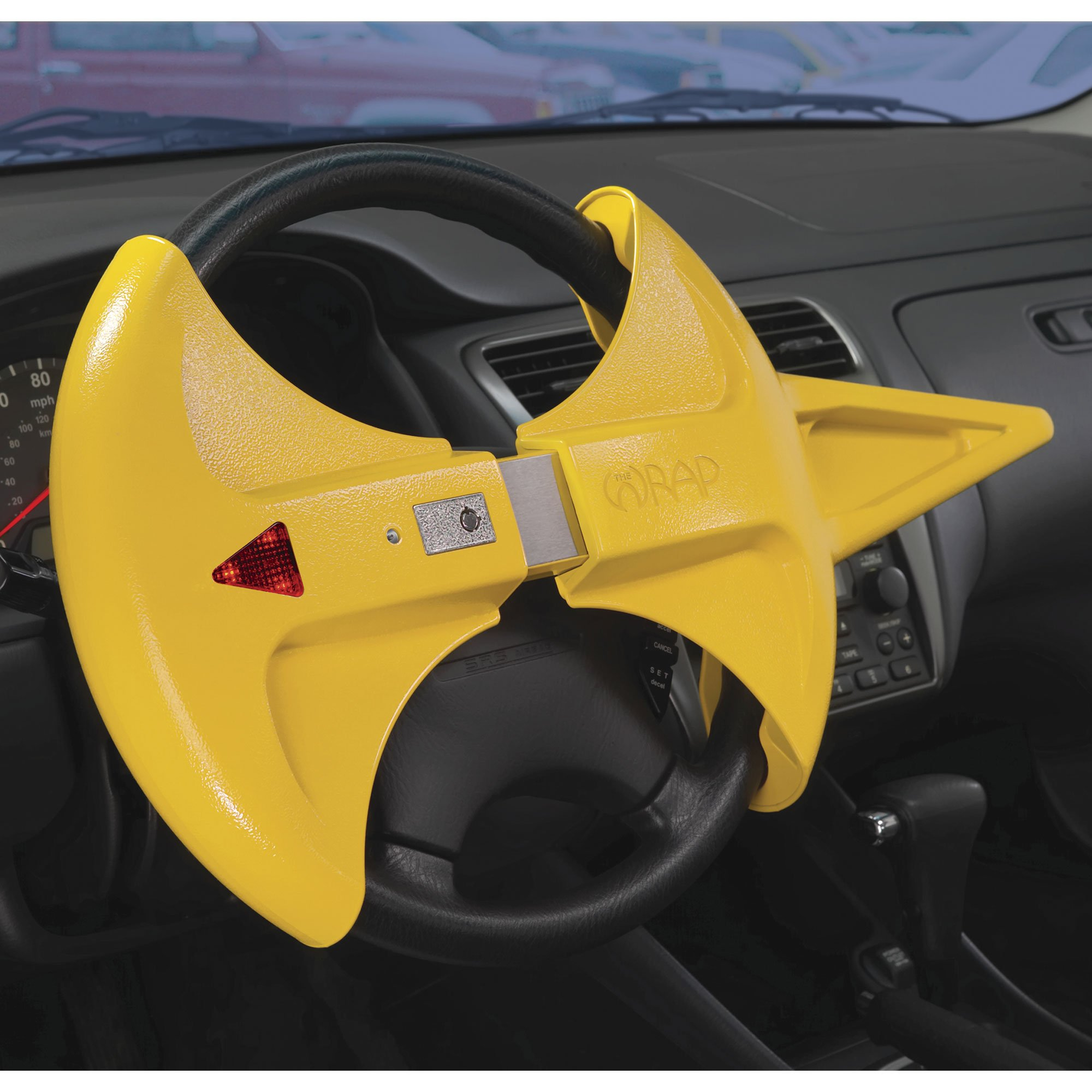 Blockit Wrap Vehicle Theft Steering Wheel Lock with Alarm by Wrap!