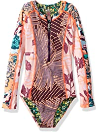 337429b82d Maaji Girls  Mixed Print Long Sleeve One Piece Swimsuit