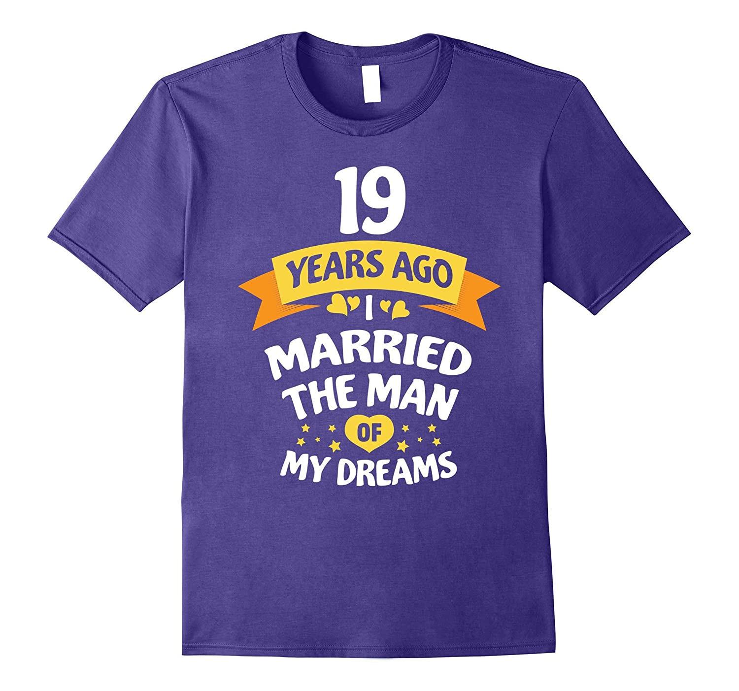 19th Wedding Anniversary Gift for Her - 19 Years T-Shirt-PL