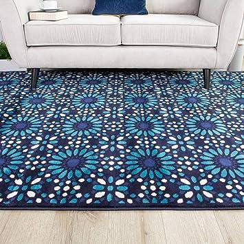 Indigo Blue Tile Traditional Historic Geometric Moroccan Long Modern