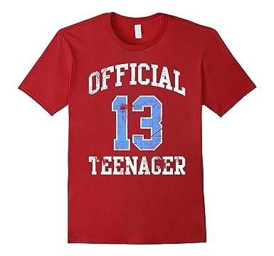 Mens Official Teenager Tshirt 13 Thirteen Birthday Shirt Boy Girl 2XL Cranberry