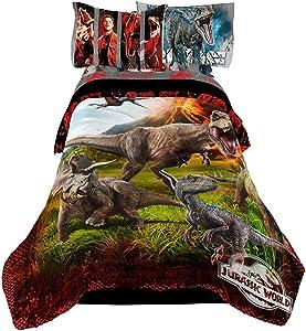 """Jurassic World Kids Bedding Sheet Twin Sheet Set with Comforter 4 Piece - 72"""" x 86"""""""